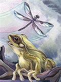 UYRT Puzzles 4000 Piezas para Adultos para niños - La tecnología de Rana y libélula Significa Que Las Piezas encajan Perfectamente