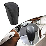 Tuqiang Hand Sew Non-slip Leather Car Gear Shift Knob Cover Automatic Transmission for Corolla EX Yaris Vios Crown Car Styling Black Line Type N