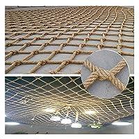 ロープネッティングヘビーデューティー屋外手すりの装飾麻ロープカーゴネット子供遊び場クライミングネット階段フェンスキッズスイングハンモックセーフティネットクライミングネット子供用屋外