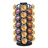 BLACKSMITH FAMILY Coffee Capsules Holder,Compatible with 44 Nespresso Vertuo Pods,Nespresso Capsule Holder, Comes All in One Piece,No Assembly Required, Lazy-Susan Base. (Matte Black)