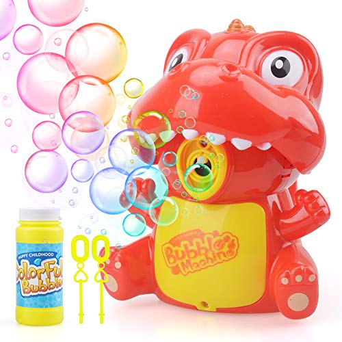 KIDTOY Kids Gifts for Girl Boy, Bubbles Maker Blower Machine Toy for 3-6 Yr Old Kids Toddler Dinosaur Automatic Bubble Maker Toys for Girls Boys Birthday Gift Age 3 4 5 6 Best Children Bath Toy