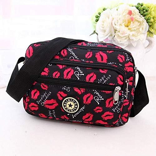 N-brand PULABO wasserdichte Dame Tasche, EIN-Schulter trendy Tasche, Oxford Handtasche roten Lippen sehr praktisch und beliebt Praktisch