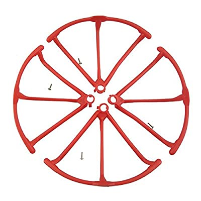 SODIAL(R) Upgrade Propeller Guards Protectors for Hubsan H502E H502S Drone RC Quadcopter Spare Parts Replacement (Red)