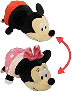 www.Disney.com Flipazoo - 14' Pillow with 2 Sides of Fun for Everyone - Each Huggable FlipaZoo Character is Two Wonderful Collectibles in One (Minnie Mouse / Mickey Mouse)