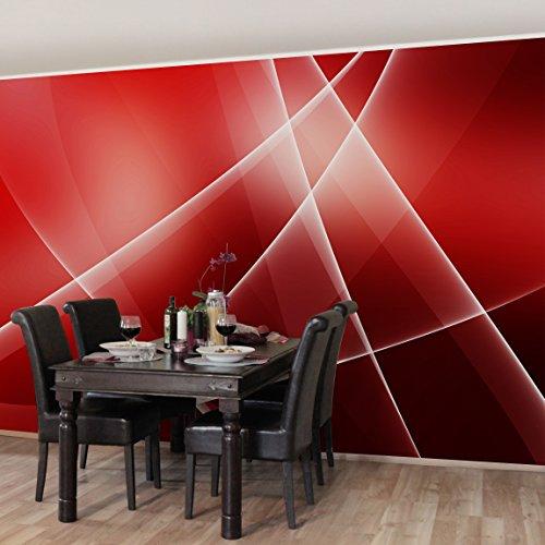 Apalis Vliestapete Red Turbulency Fototapete Breit | Vlies Tapete Wandtapete Wandbild Foto 3D Fototapete für Schlafzimmer Wohnzimmer Küche | rot, 95001