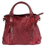 BZNA Bag Eva - Bolso de piel para mujer, color rojo oscuro
