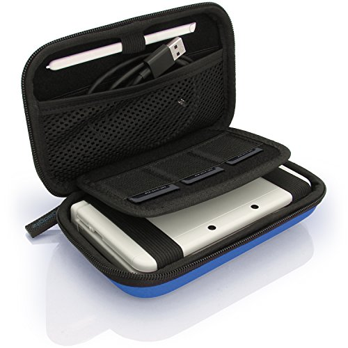 iGadgitz U3606 - Custodia Rigida Eva Compatibile con Nintendo 3DS (Non per 3DS XL) - Blu