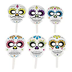 Image: Fun Express Day of The Dead Handheld Masks