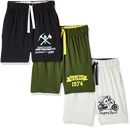 Cloth Theory Boys' Regular Fit Cotton Shorts (Combo Pack of 3)(ICWN BPOSHRT...