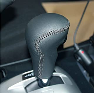 JI Hand Sewing Black Genuine Leather Gear Shift Knob Cover for 2008 2009 2010 2011 2012 Honda Accord 8/2010 2011 2012 2013 2014 2015 Honda Accord CrossTour Automatic