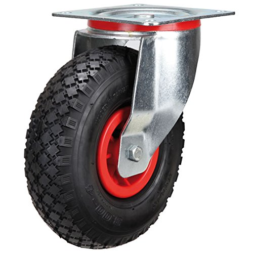 Lenkrolle 225 mm Luftrad mit Kunststoff-Felge