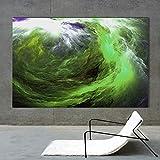 QWESFX Luces del Norte Paisaje Abstracto Pintura al óleo Cuadros de Pared para Sala de Estar Decoración para el hogar Nubes Colorido Lienzo (Imprimir sin Marco) A 35x70CM