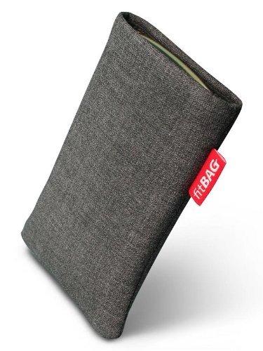 fitBAG Jive Grau Handytasche Tasche aus Textil-Stoff mit Microfaserinnenfutter für Sony Ericsson W380 W380i