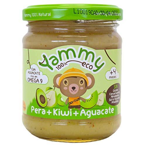 Yammy, Potito Ecológico de Frutas ( Pera, Kiwi, Aguacate) - 12 de 195 gr. (Total 2340 gr.)