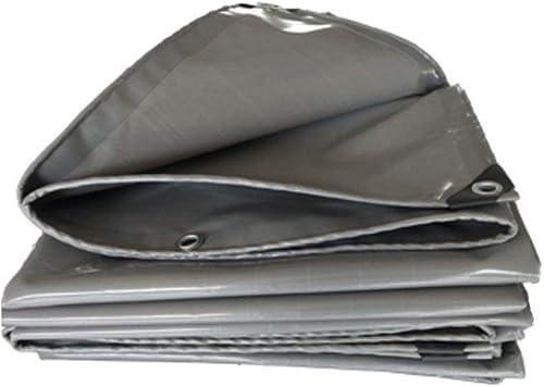 GRPB Baches grises Toile Imperméable Poncho Housse De Prougeection Jouet Tente Camping Tapis De Plage PVC Prougeection UV à L'extérieur Camping Jardin Voiture Feuille Baches Au Sol (Taille   3mx5m)