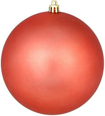 """Vickerman Ball Ornament, 8"""", Coral"""