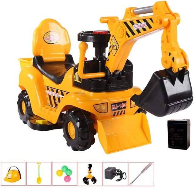 ZDHHD 5 ☆ popular Children's Electric Toy Cheap mail order specialty store Excavator Car B