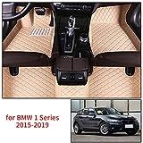 Verbesserte Auto Fußmatten Teppich Leder für B M W 120i 116i 118i 125i M135i M140i F20 E82 E87 E88 2015-2019 Full Protection Custom Car Accessories Styling Beige 1 Set