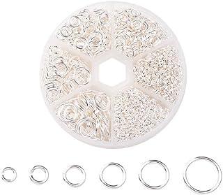 Tweal 1600 Piezas 4mm-10mm Anillas Abiertas Anillas de Salto Accesorios de Fabricación de Bisutería para Collar Gargantill...