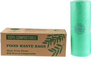 Backward Turtle Ltd - Bolsas de basura biodegradables, 100% compostables, Verde, 30L
