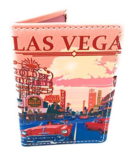 Tarjetero Funda Abono Transporte Funda Documentación Doble Ventana Estampados Ciudad (Las Vegas)