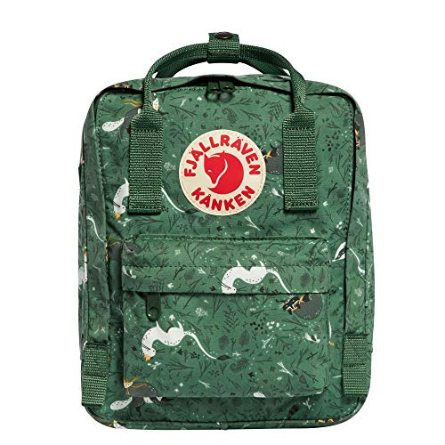 Fjallraven, Kanken Art Special Edition Mini Backpack for Everyday, Green Fable
