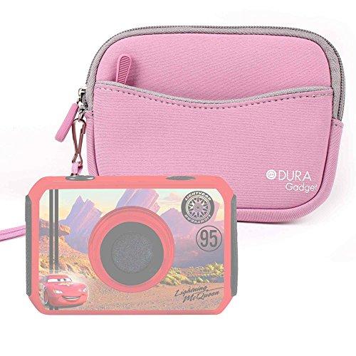 DURAGADGET Funda/Estuche De Neopreno Rosa para cámara de niño Ingo Devices Hello Kitty   Minni   Violetta   Sakar Hello Kitty + Correa De Mano