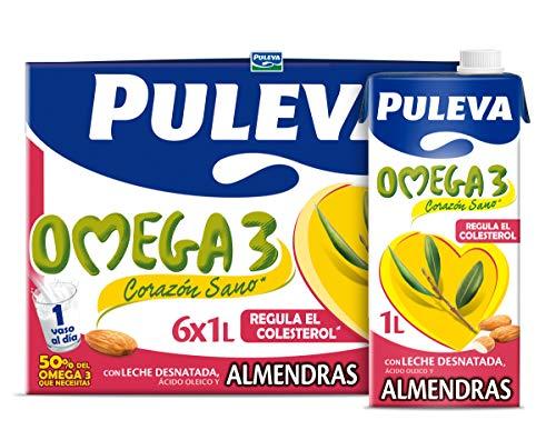 Puleva Leche Desnatada con Omega 3 Almendras Pack 6lts.