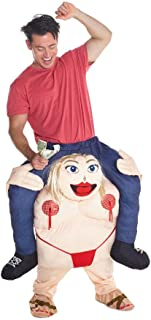 Fat Stripper Carry me Piggyback Ride Me Ride On Piggy Back Costume with Self Fill Legs Halloween Party