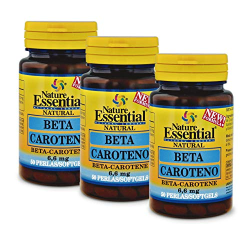 Beta-caroteno 8,2 mg 50 perlas. (Pack 3 unid.)