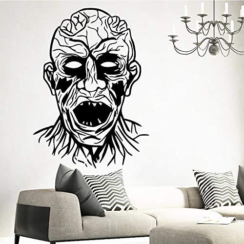 Vinilo decorativo habitación oscura familia monstruo aterrador