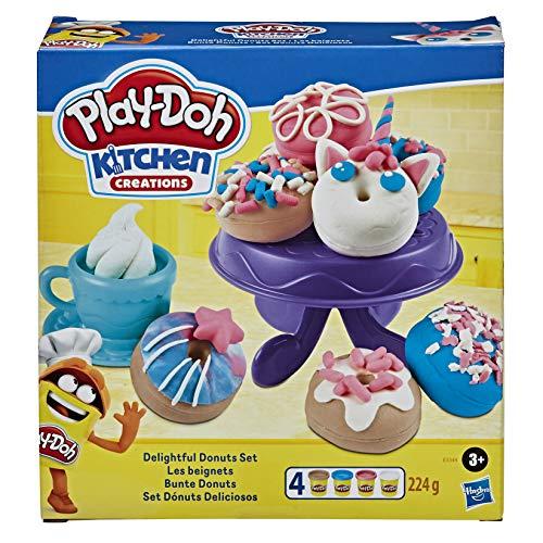 Play-Doh Bunte Donuts, Knete für kreatives Spielen, für Kinder ab 3 Jahren