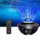 Proyector de luz LED de estrella,Proyector de estrellas luz nocturna infantil con altavoz de música Bluetooth,temporizador,control remoto para dormitorio,fiesta de baile