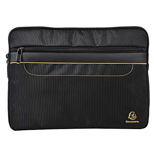 Exacompta - Réf. 17134E - 1 Housse tablette et ordinateur 13'' Exactive - une poche zippée à l'avant pour ranger une tablette, un téléphone - intérieur tissu matelassé - dim 36 x 26,5 x 3,5 cm - Noir