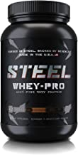 Steel Supplements Whey-PRO Whey Protein Powder Supplement Supports Lean Muscle Gains 3 Pounds (Chocolate)