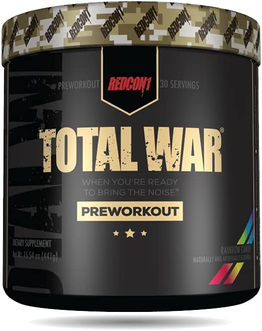 Redcon1 Total Max 50% OFF War - Pre Workout Boost Servings OFFicial mail order Incr 30 Energy