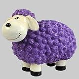 Vamundo Süßes Deko-Schaf für den Garten - LILA
