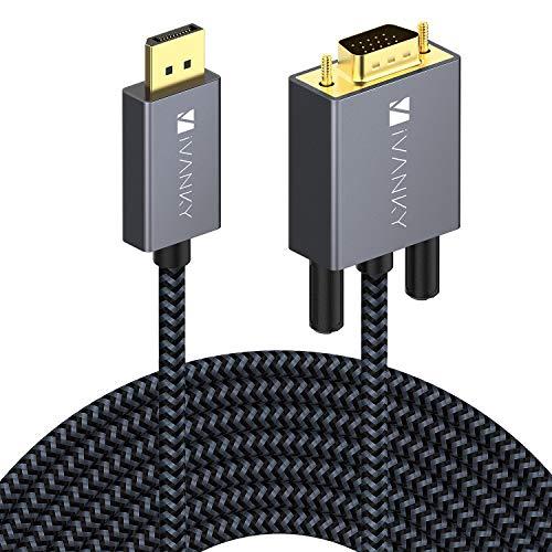 iVANKY Cable DisplayPort a VGA 4.5 Metros, 1080P FullHD 60Hz, Conversor DP...