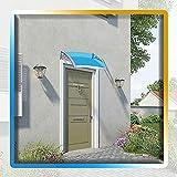 NYCUABT Patio Porch Towing Shelter Cubierta Arco Canopy Blue Policarbonato Hojas de Techo para Puerta Delantera Porche (Color: Azul, Tamaño: 60x60cm) (Color : Blue, Size : 80x100cm)