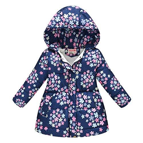 Kids Girls Long Sleeve Trendy Leopard Print Fur Hood Pad Thick Thermal Down Jacket 2-8 Years