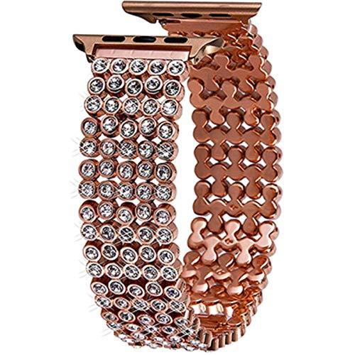 Correa de reloj 42 mm 38 mm 40 mm 44 mm Correa para iwatch Reemplazo de pulsera de diamantes de metal completo para Apple Watch serie 1 2 3 4 5 6 SE