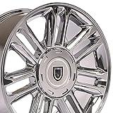 OE Wheels LLC 20 Inch Fits Chevy Silverado Tahoe GMC Sierra Yukon Cadillac Escalade CA83 Chrome 20x9 Rim Hollander 5358