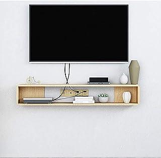 Los estantes flotantes flotantes TV Unidad de soporte de gabinete Set Top Box Unidad de Plataforma de TV Consola de almace...