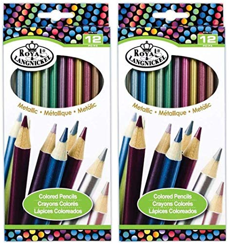 2-Pack - Metallic Color Pencil Set of 12 Colors Each