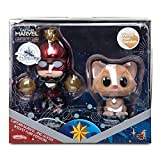 Figures Captain Marvel and Goose Cosbaby Bobble-Head Set by Hot Toys – Limited Release