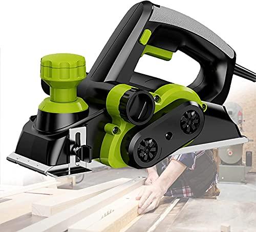 WSVULLD Planador de pulido de madera eléctrico 800W HOGAR Carpintería Cepillado eléctrico Motor de núcleo de cobre Toma de polvo de dos vías 0-2mm Profundidad de planificación ajustable para muebles B