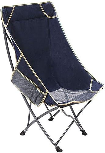 DLDL Chaise portative de loisirs de chaise de pliage de cadre de fer, pliant le conseil de pêche de Mazar (Couleur   Bleu, taille   53  55  93cm)