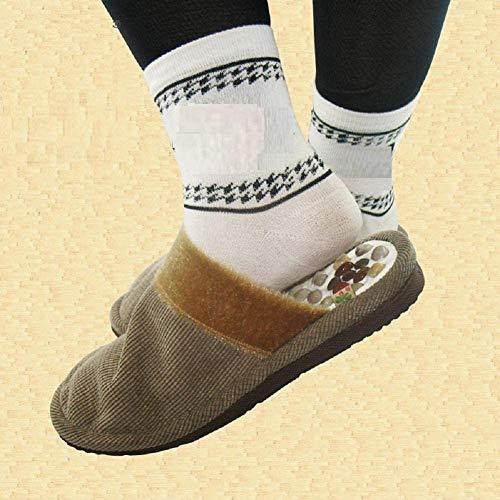 XHDMJ Portable Pebble Massage Chaussures Fitness Pied Massage Chaussures Santé Chaussures Acupuncture Massage Pantoufles, Gris, 36-37, Gris, 43-44