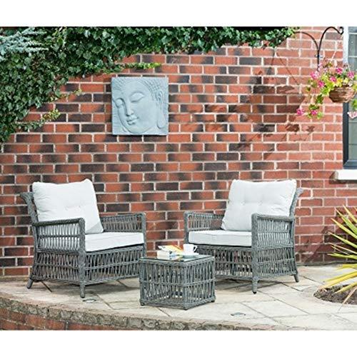 Scotrade Juego de bistro Hertfordshire de lujo M19, perfecto para noches cálidas y soleadas en el jardín, 3 piezas.