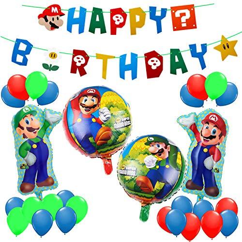 MOLECOLE Mario Birthday Party Pack,Super Mario Bros Happy Birthday Banner Party Supplies Decorations Birthday Party Supplies Decor